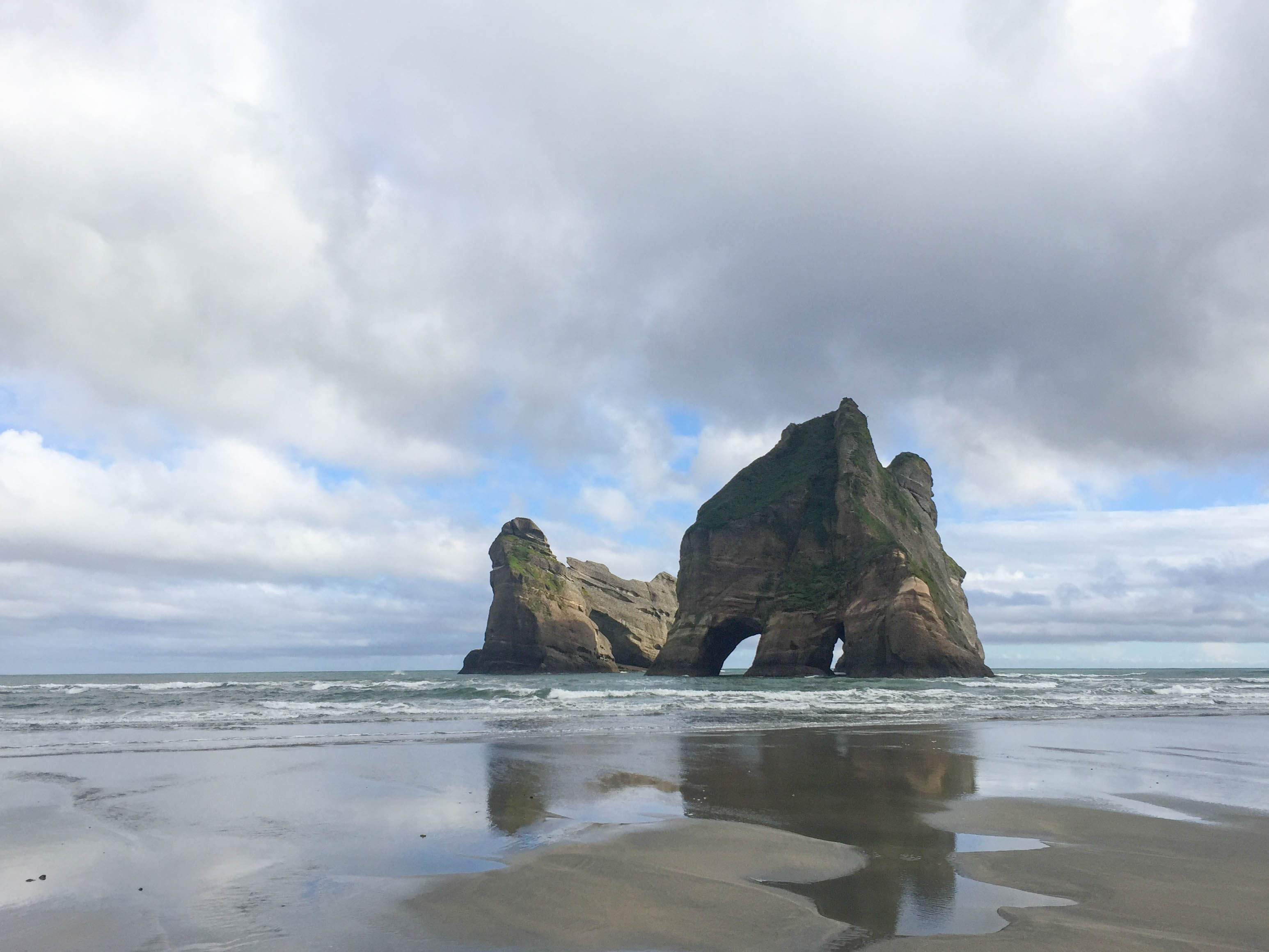 Daytime at Wharariki Beach