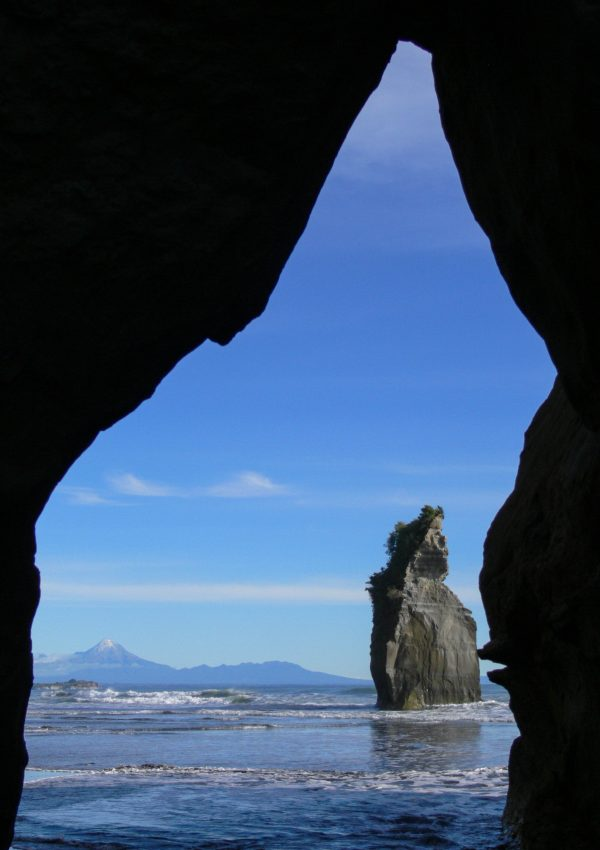 Mount Taranaki from Tongaporutu Beach