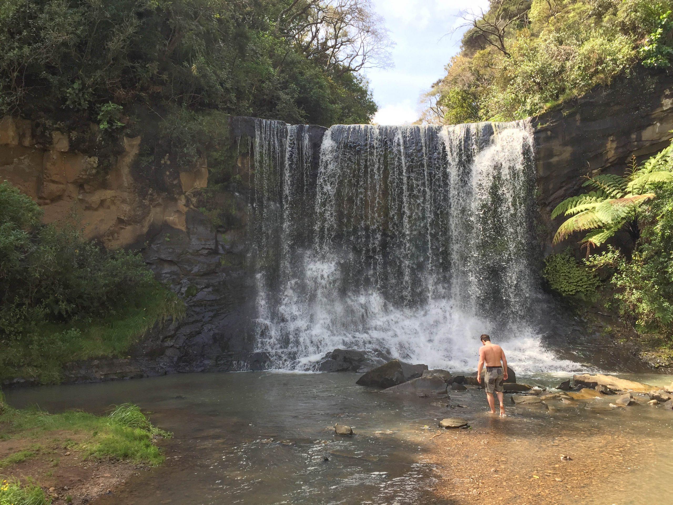 Mokoroa Falls swim