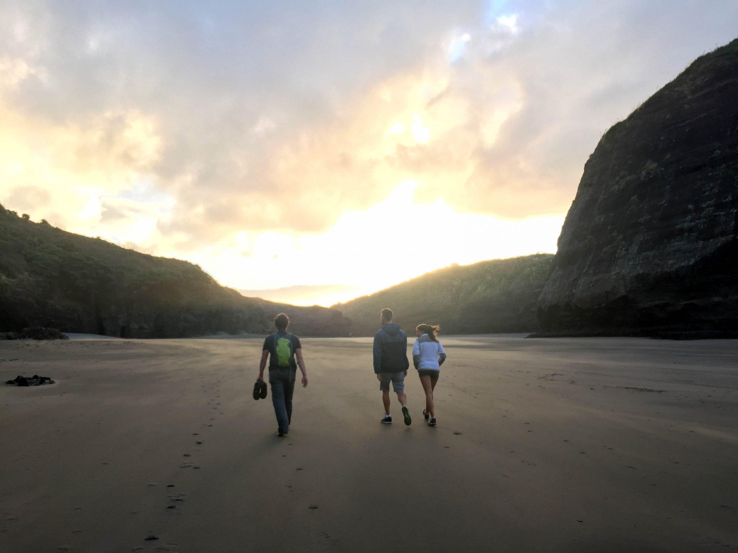 Piha beach sunset walk