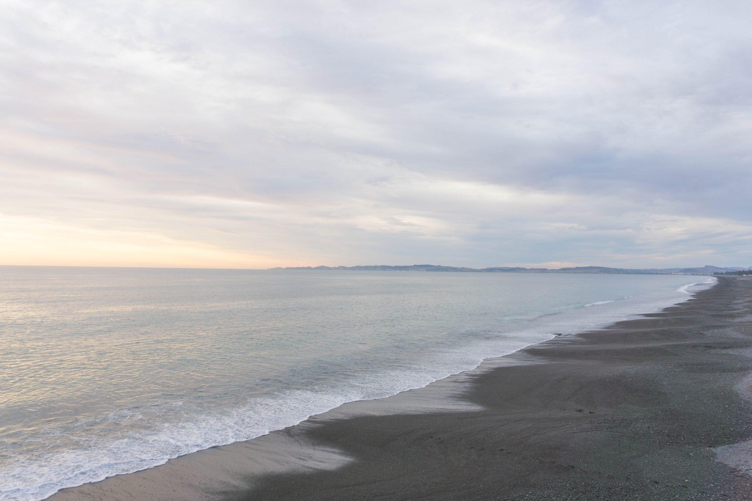 Napier beach at sunrise