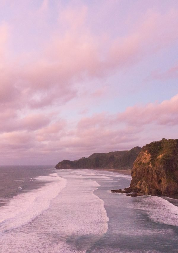 Piha Beach at sunset