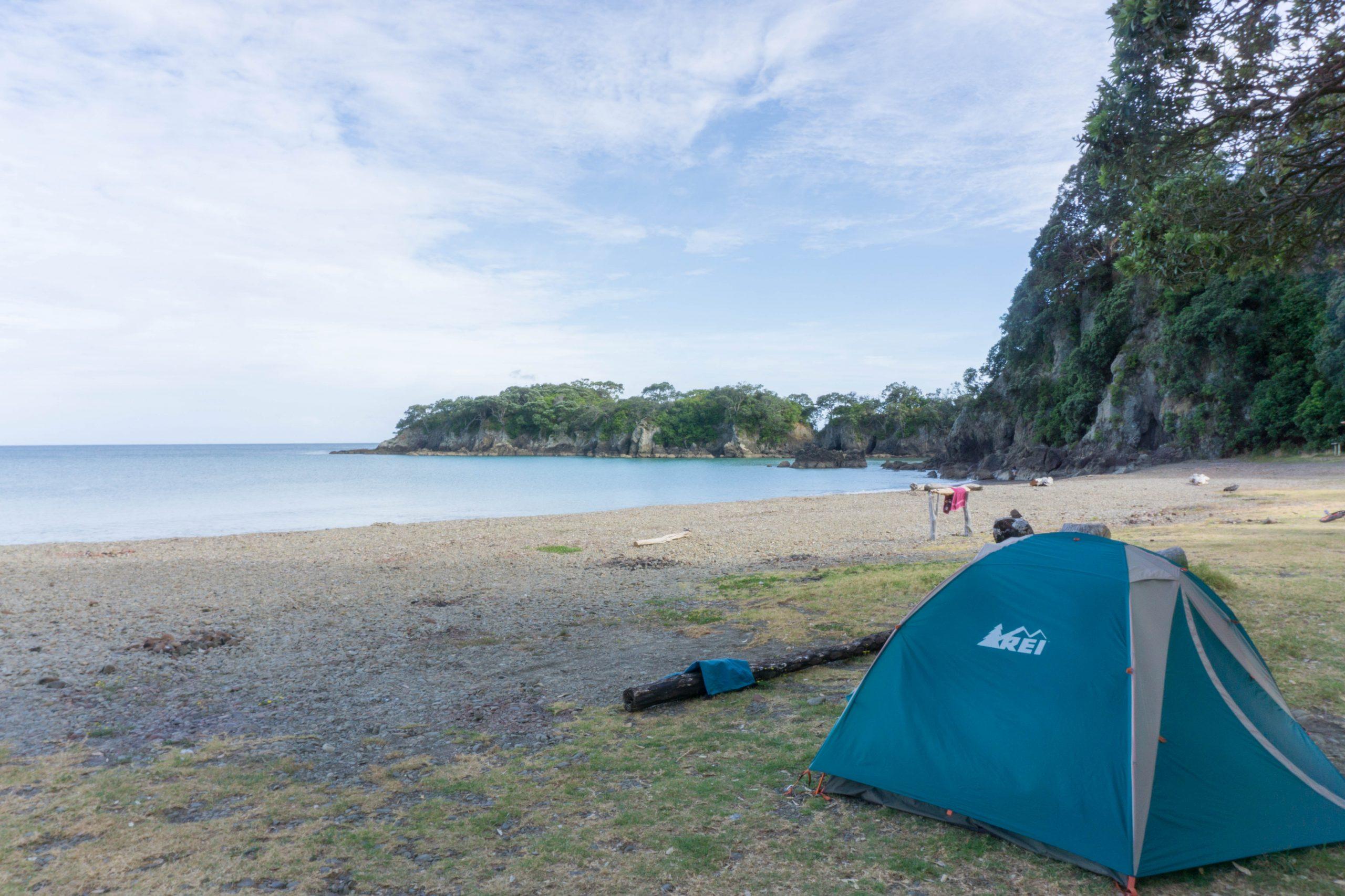 Tent camping at Maraehako Campground