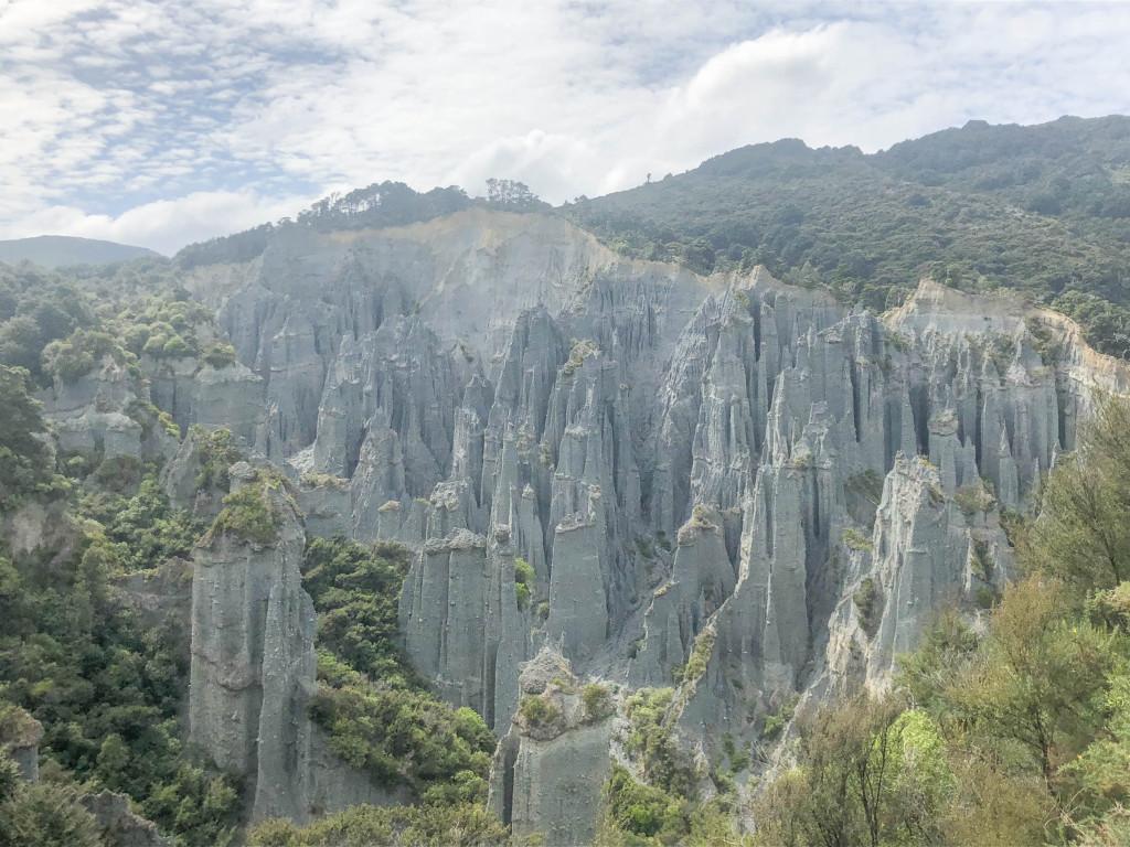 Putangirua Pinnacles walk in Cape Palliser