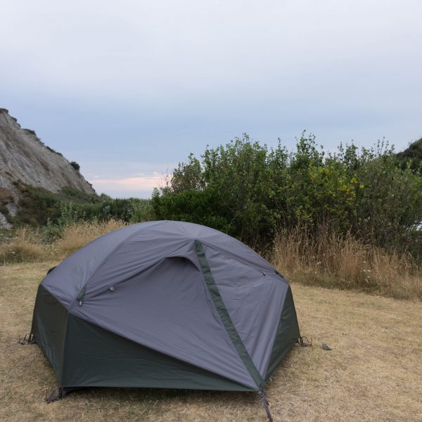 Tent camping at Putangirua Pinnacles